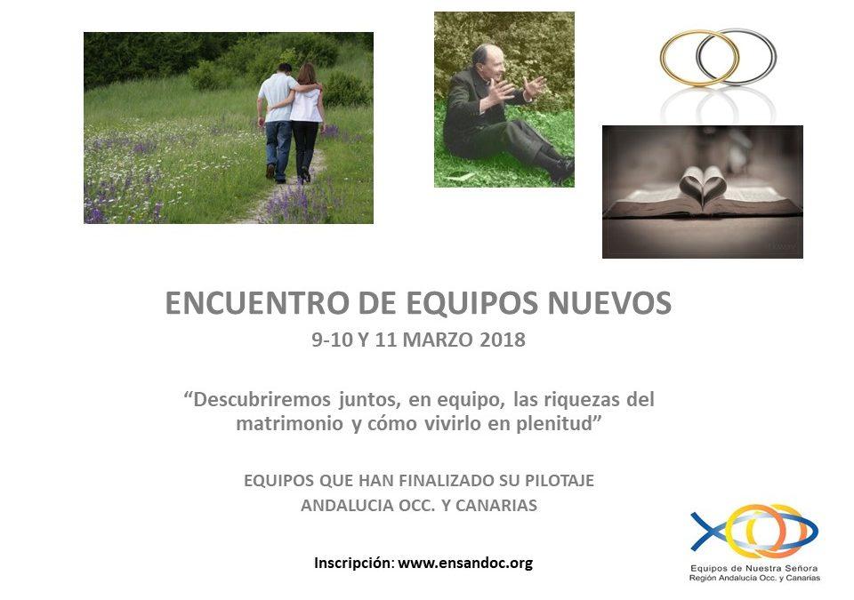 Invitación al Encuentro de Equipos Nuevos 2018